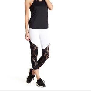 BEBE Sport Lace Capri Leggings NWT